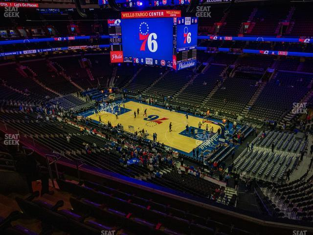 Wells Fargo Center Section 204 view