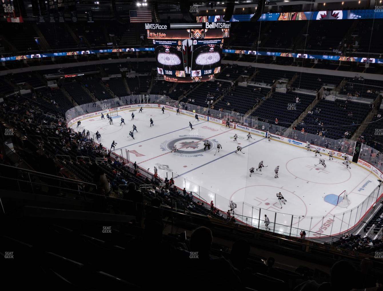 Winnipeg Jets at Bell MTS Place Section 317 View