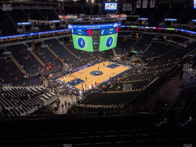 Target Center Section 216 view