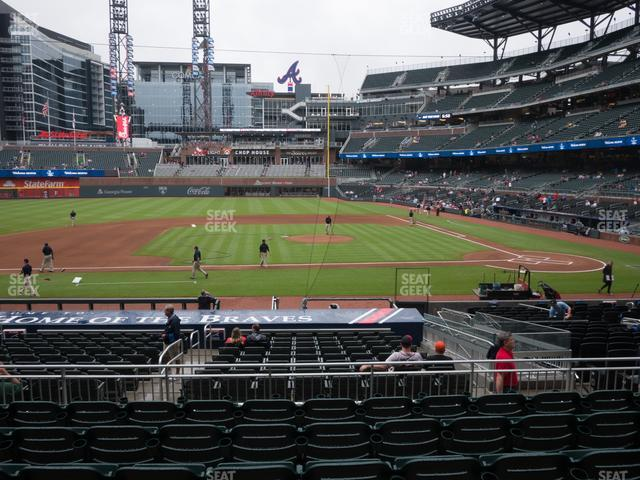 SunTrust Park Section 135 view