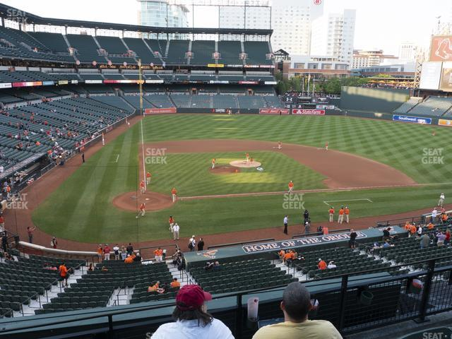 Oriole Park at Camden Yards Section 228 view