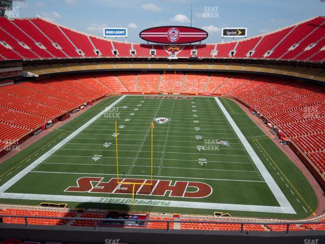 Arrowhead Stadium Section 312 view
