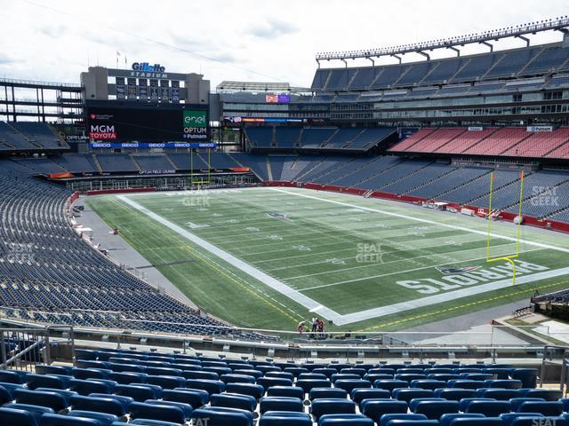 Gillette Stadium Section 202 view