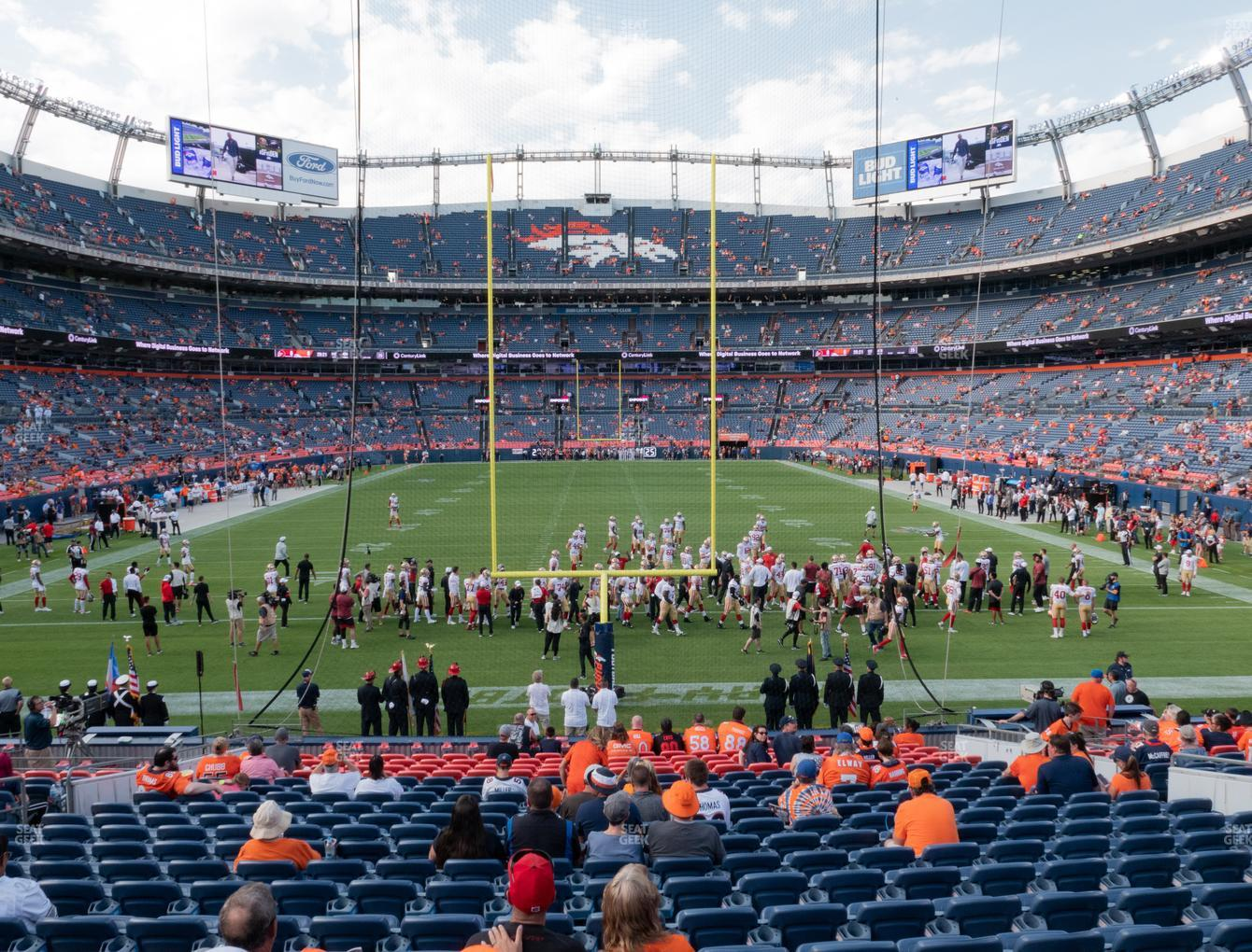 Denver Broncos at Empower FIeld at Mile High Section 132 View