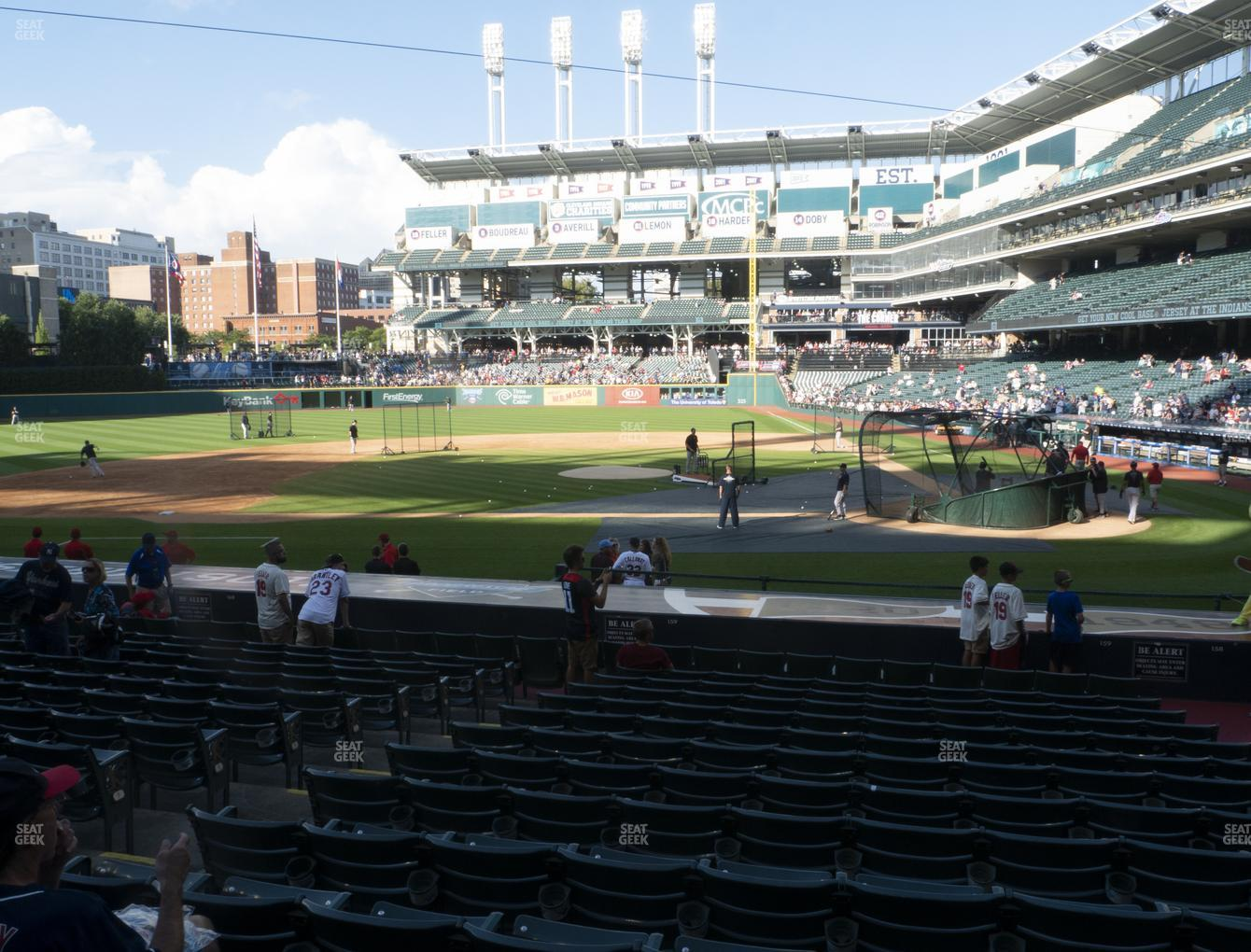 Cleveland Indians at Progressive Field Section 159 View