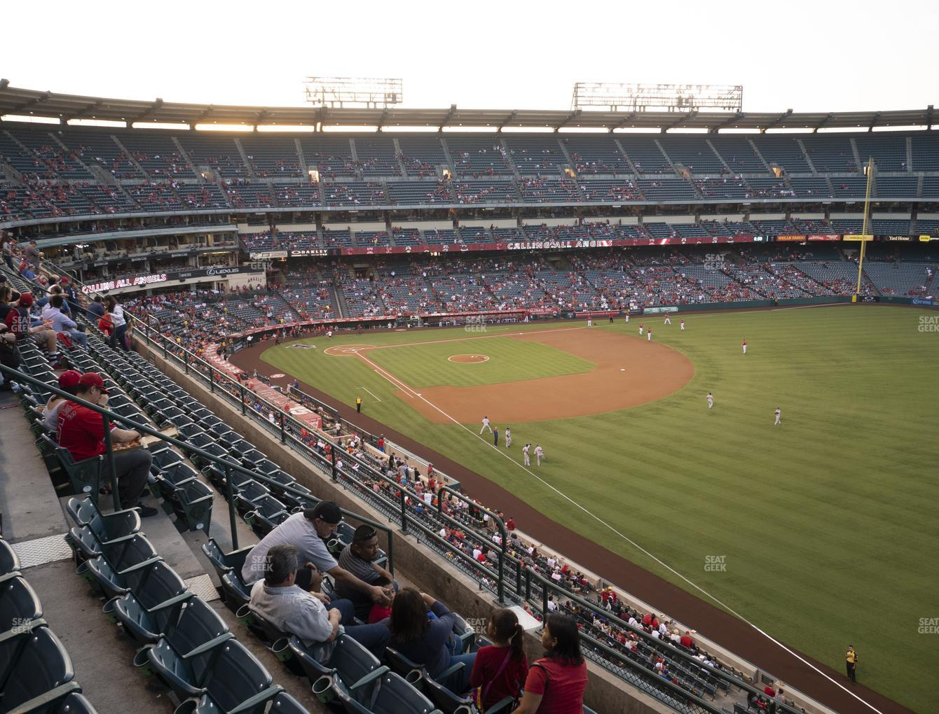 Los Angeles Angels at Angel Stadium of Anaheim Section 431 View