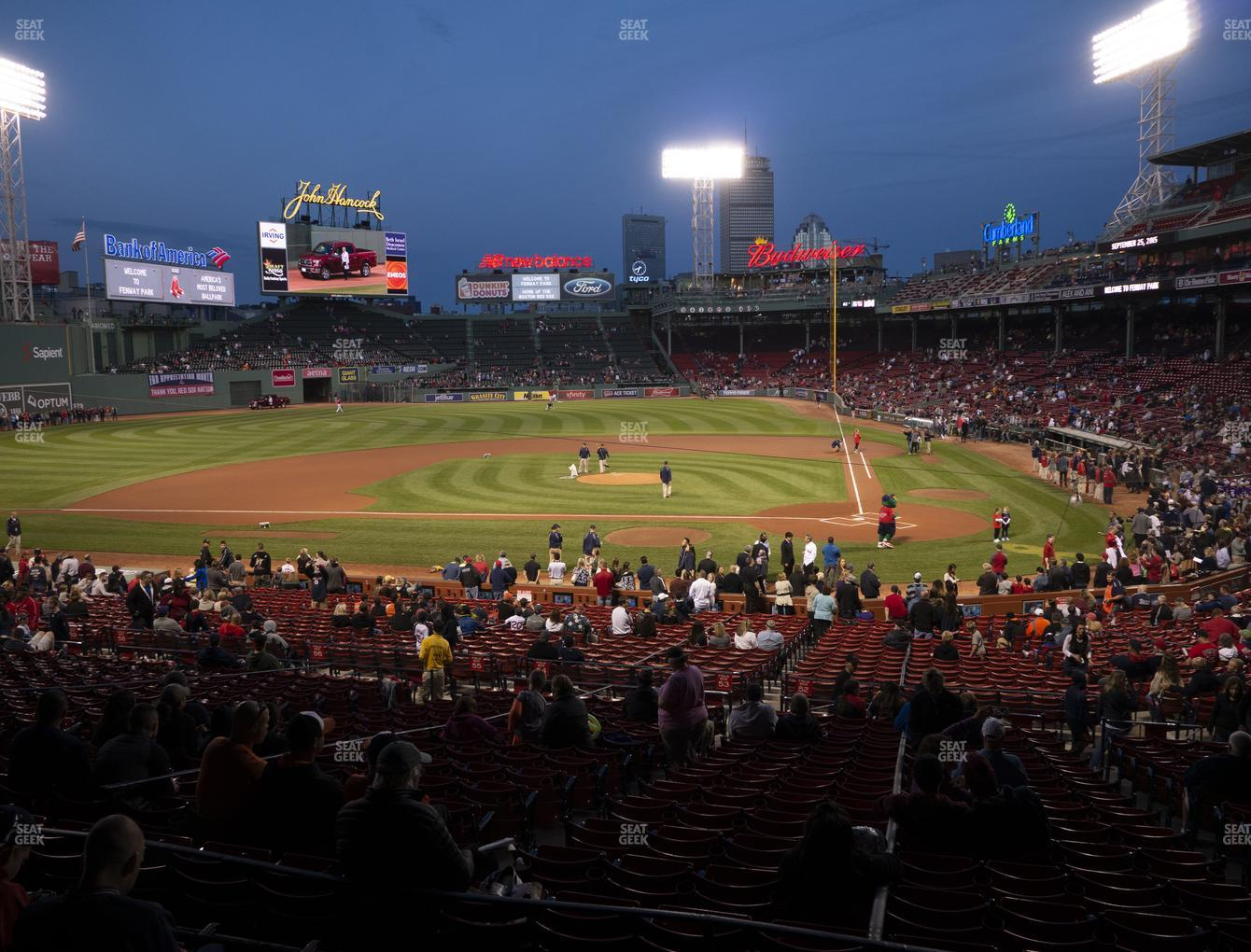Boston Red Sox at Fenway Park Infield Grandstand 24 View