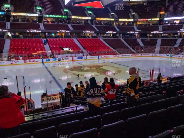 Canadian Tire Centre Section 107 view