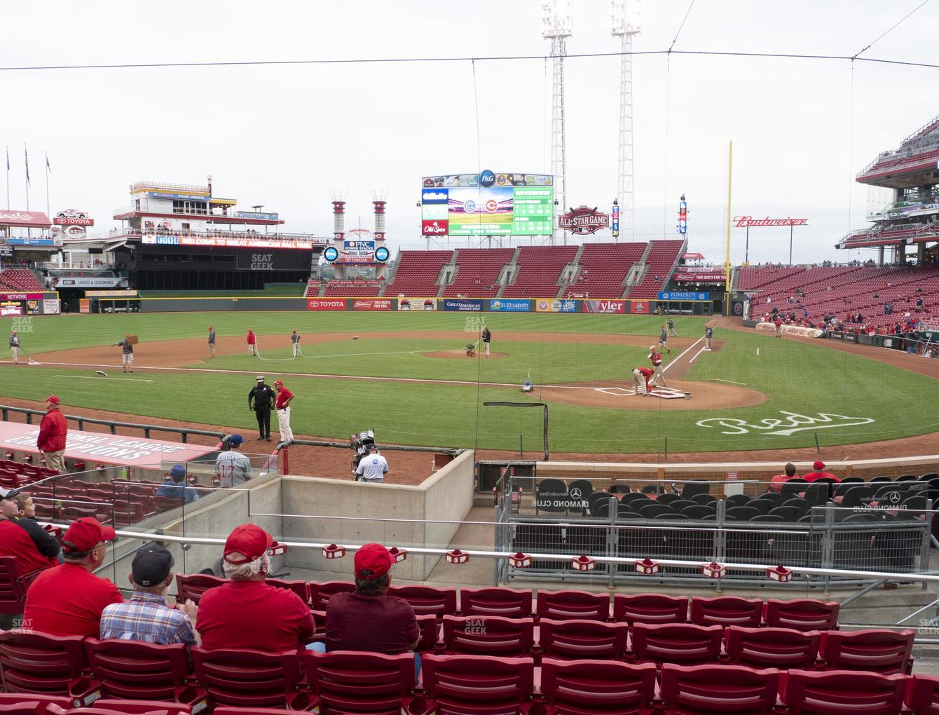 Cincinnati Reds at Great American Ball Park Section 121 View