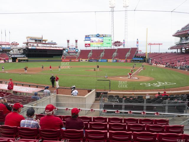 Great American Ball Park Section 121 view