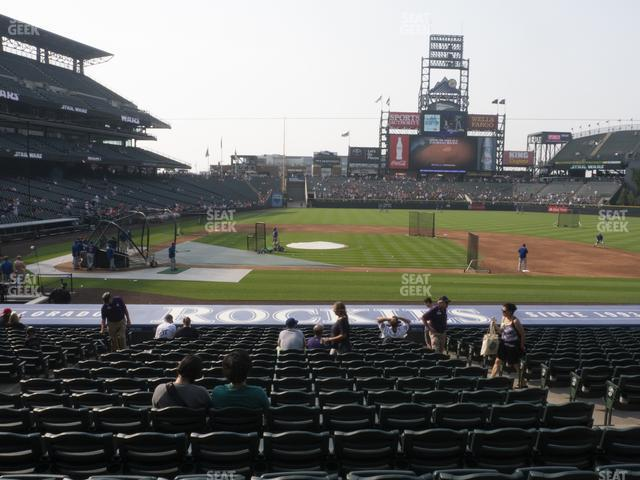 Coors Field Section 124 view