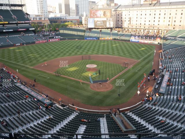 Oriole Park at Camden Yards Section 340 view