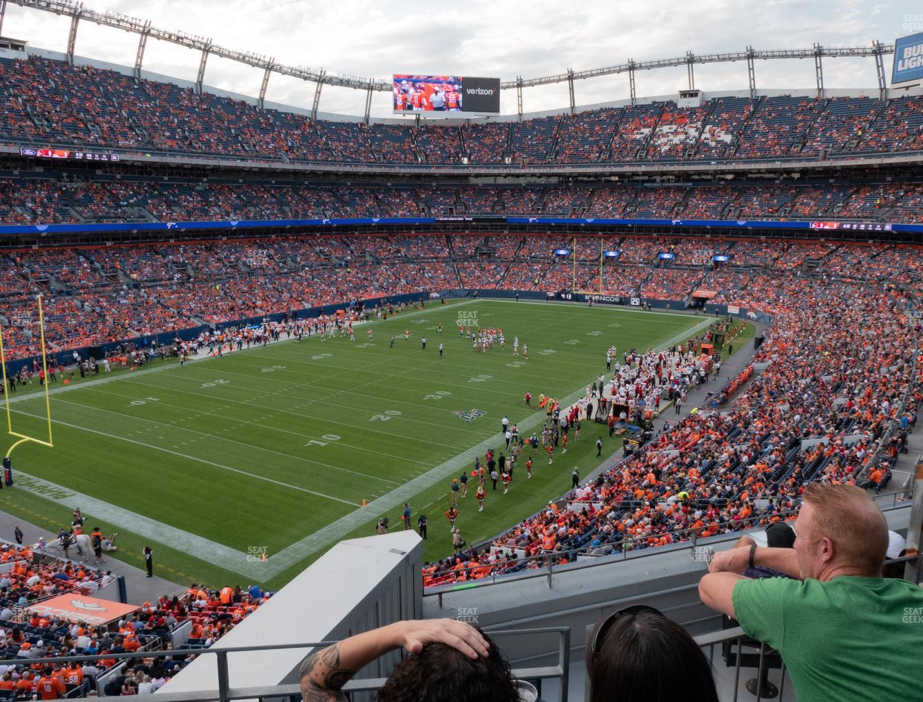 Denver Broncos at Empower Field at Mile High Section 346 View