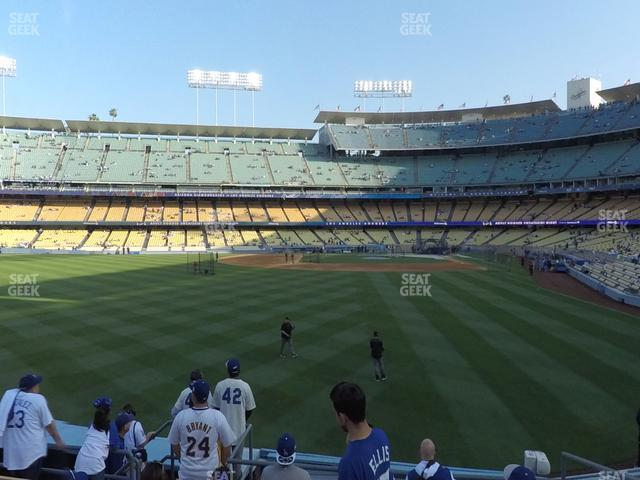 Dodger Stadium Left Field Pavilion 301 view