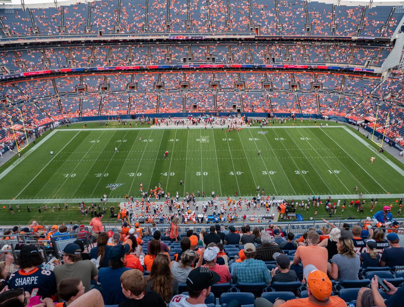 Denver Broncos at Empower FIeld at Mile High Section 508 View