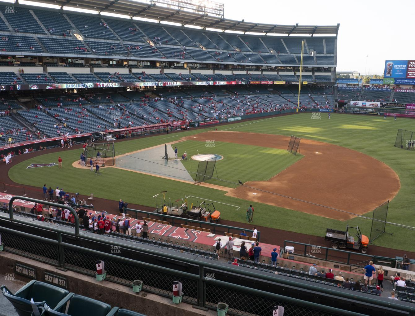Los Angeles Angels at Angel Stadium of Anaheim Section 337 View