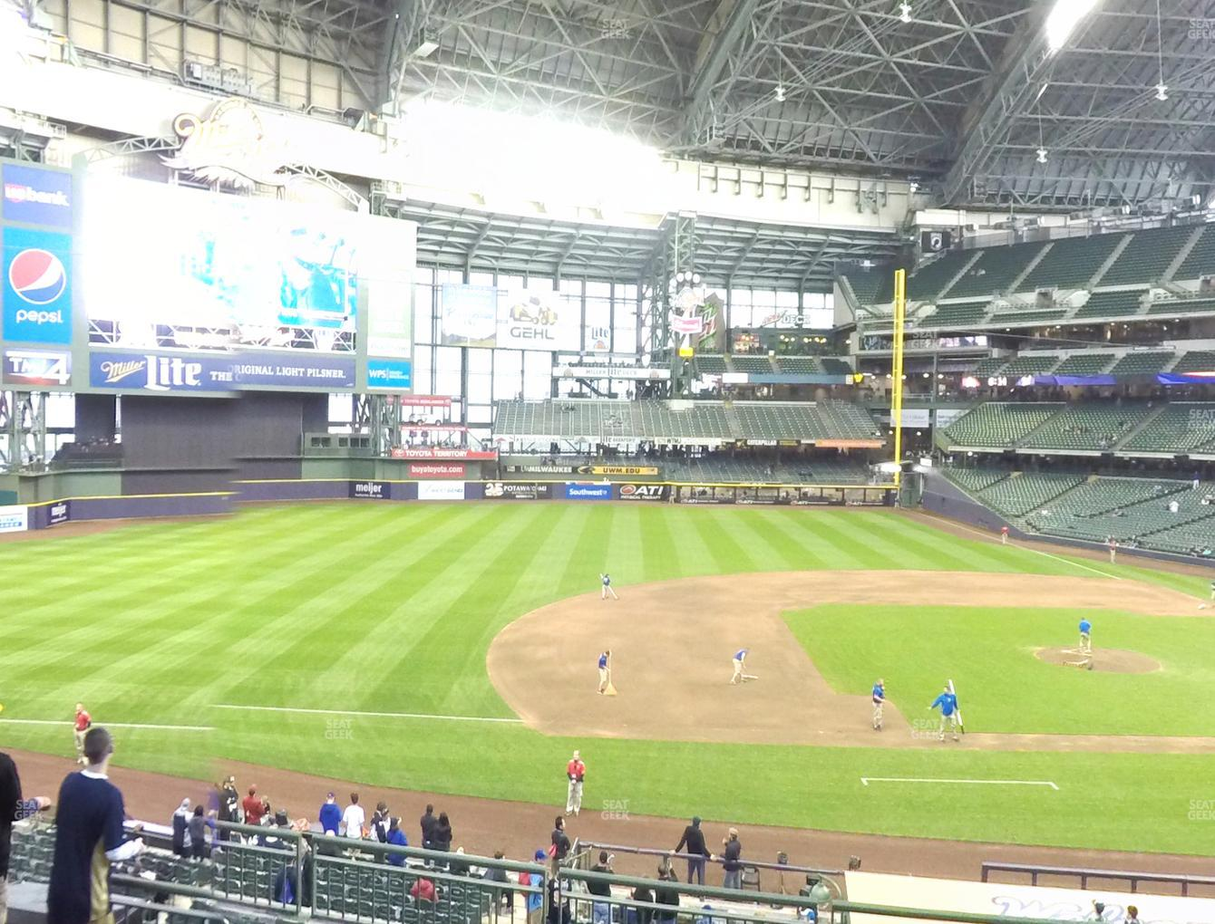 Concert at Miller Park Section 225 View