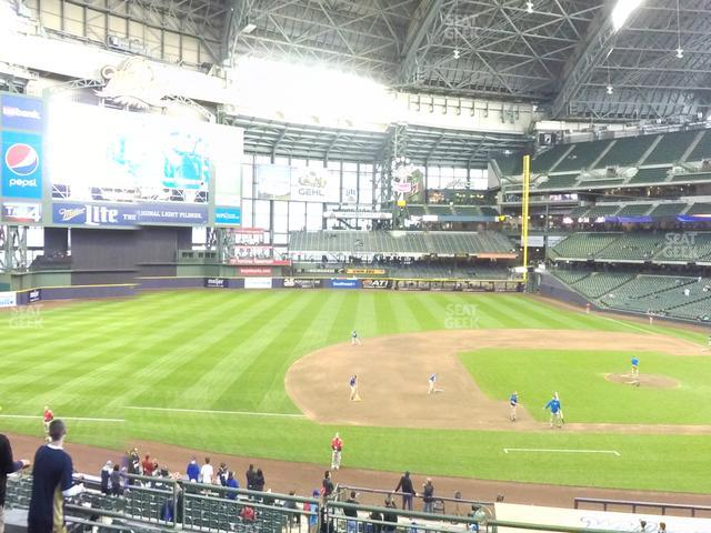 Miller Park Section 225 view