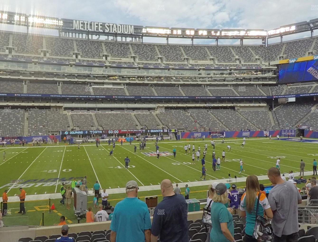 315aeb32d6f View seating charts. New York Jets at MetLife Stadium Section 140 View ...