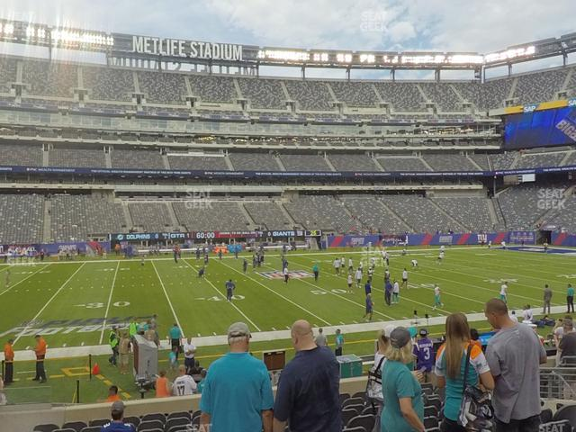 MetLife Stadium Section 140 view