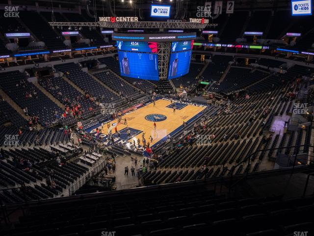 Target Center Section 217 view