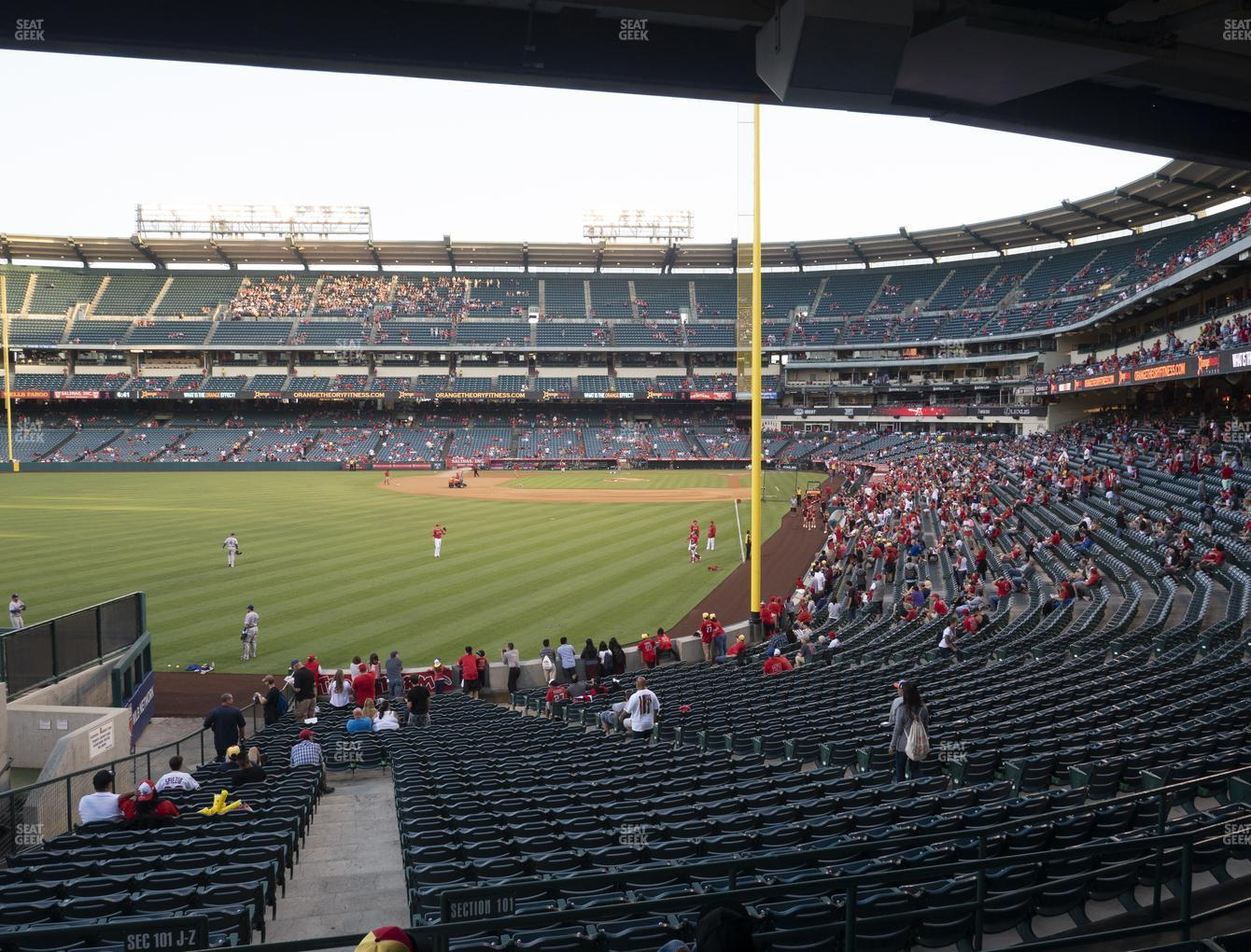 Los Angeles Angels at Angel Stadium of Anaheim Section 201 View