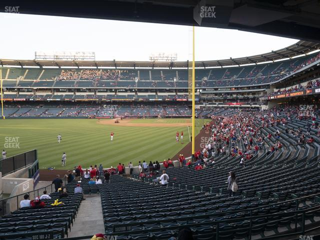 Angel Stadium of Anaheim Section 201 view
