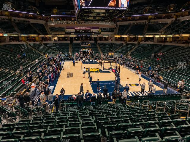 Bankers Life Fieldhouse Section 1 view