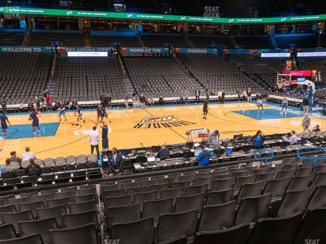 Chesapeake Energy Arena Section 116 view