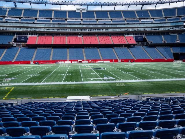 Gillette Stadium Section 132 view