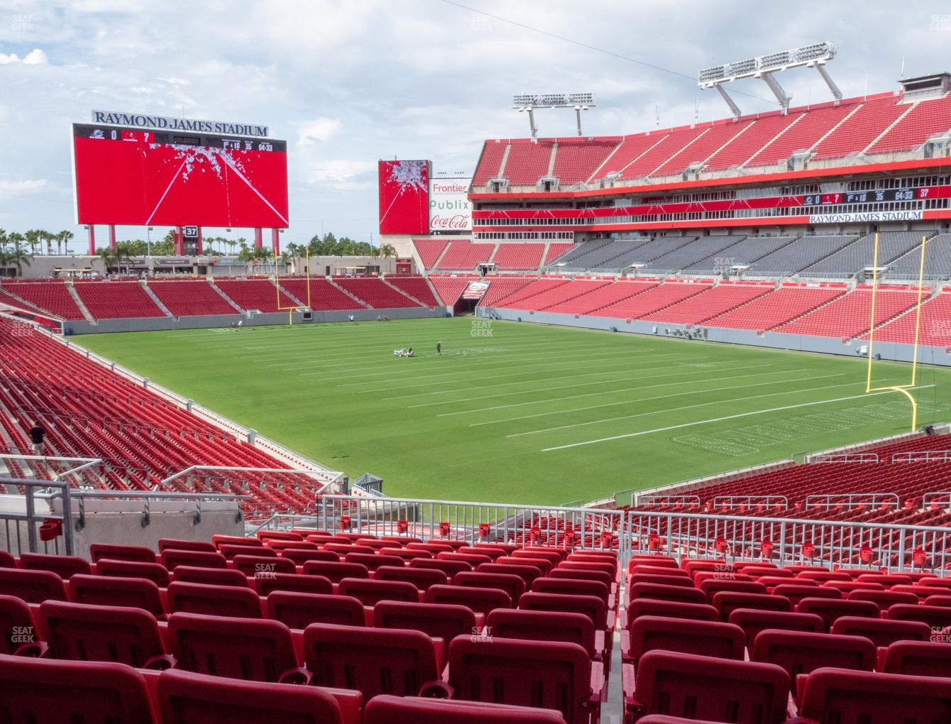 raymond james stadium section 244 seat views seatgeek raymond james stadium section 244 seat