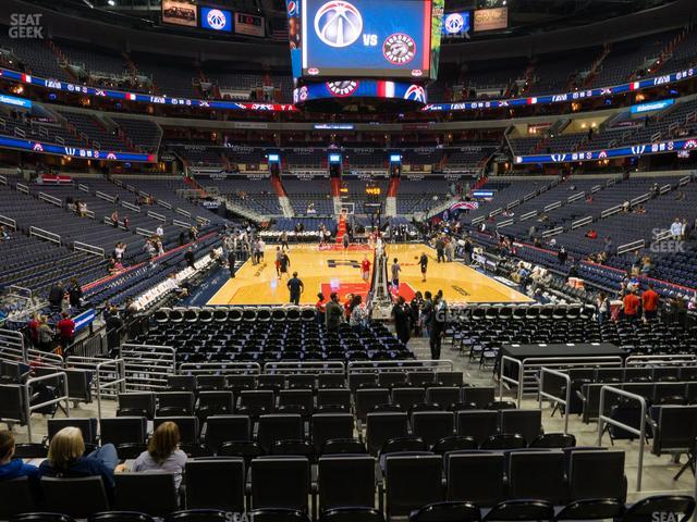 Capital One Arena Section 116 view