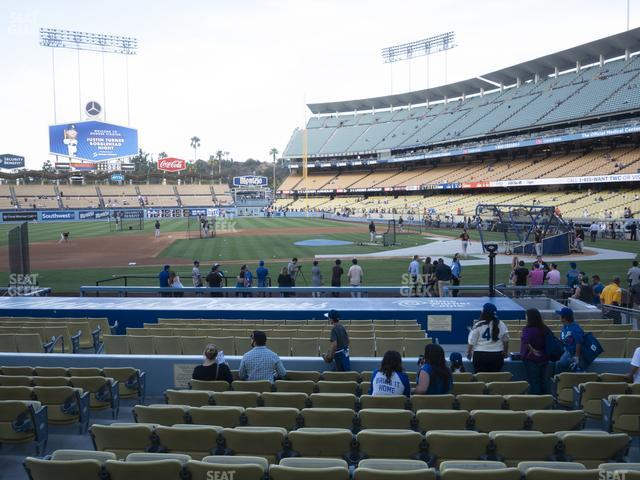 Dodger Stadium Field Box 17 view