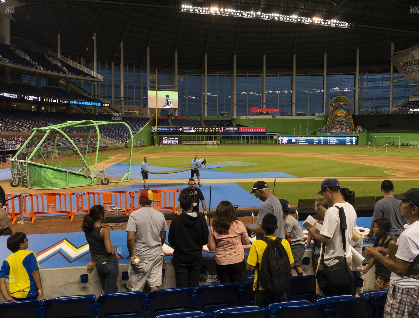 Miami Marlins at Marlins Park Section 10 View
