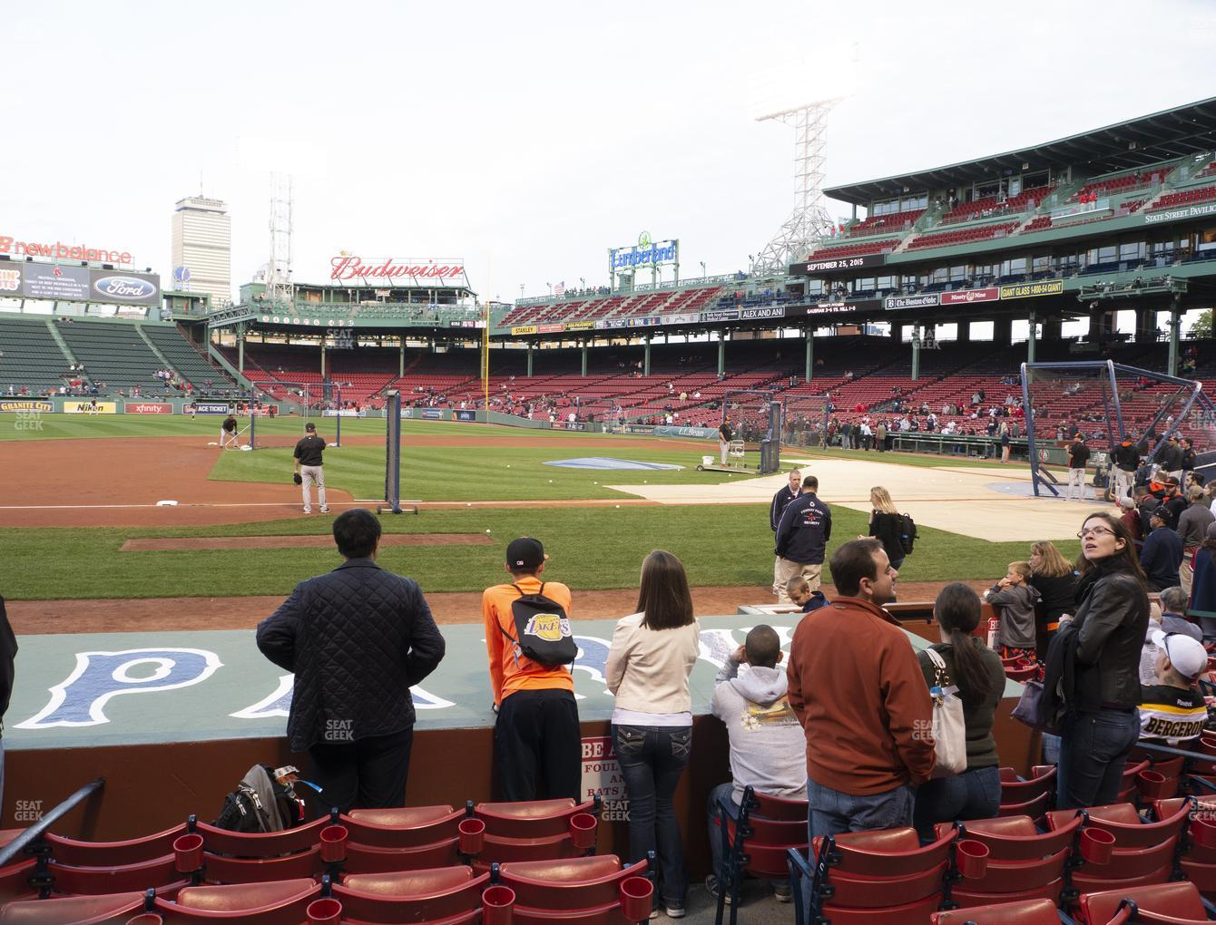 Boston Red Sox at Fenway Park Field Box 63 View