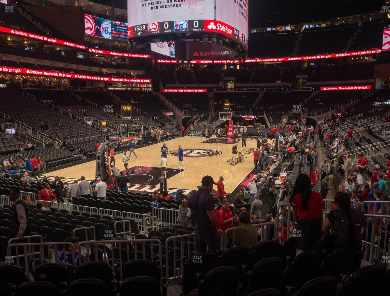 Atlanta Hawks at State Farm Arena Section 101 View