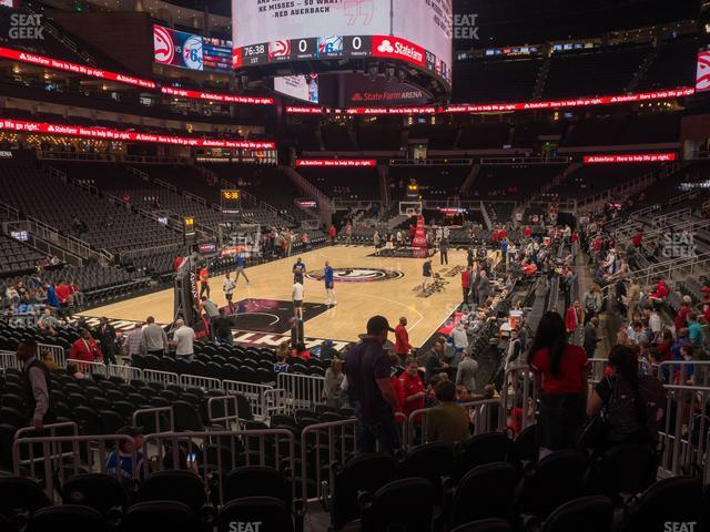 State Farm Arena Section 101 view