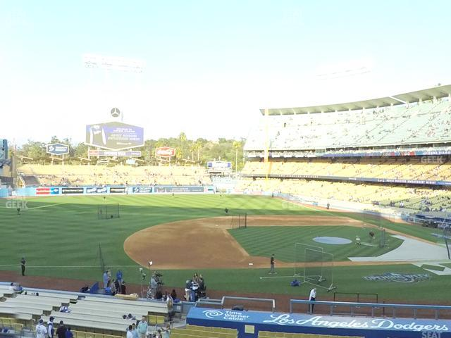 Dodger Stadium Loge Box 135 view