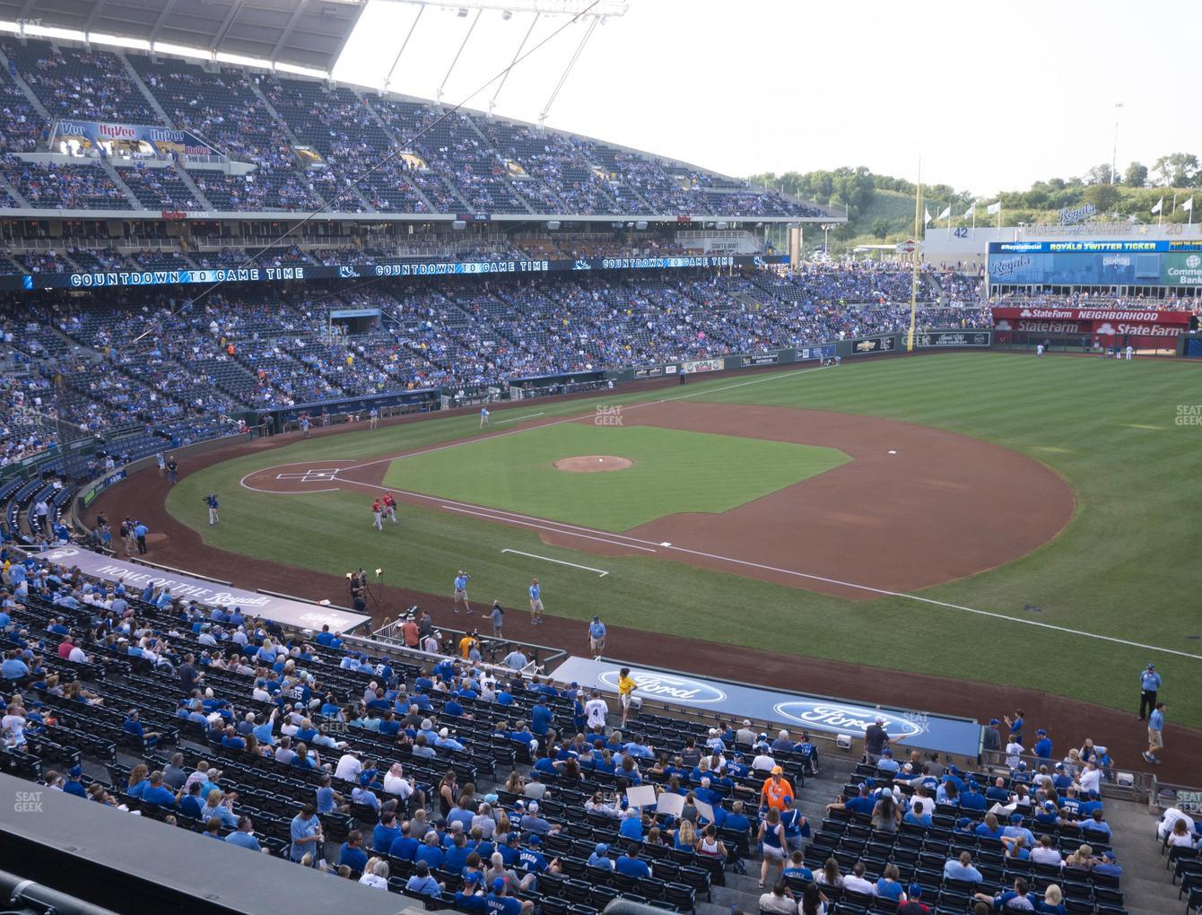 Kansas City Royals at Kauffman Stadium Section 320 View