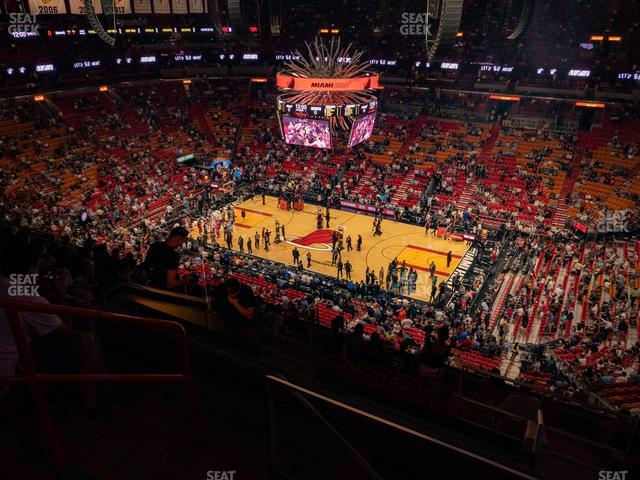 American Airlines Arena Section 306 view
