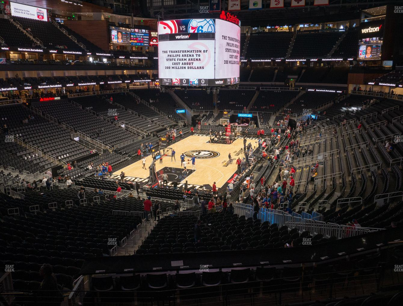 Atlanta Hawks at State Farm Arena Section T 3 View