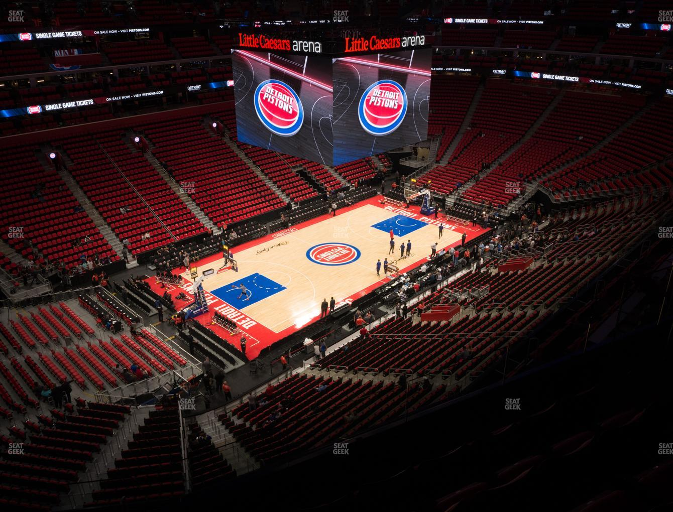 Detroit Pistons at Little Caesars Arena Section 230 View