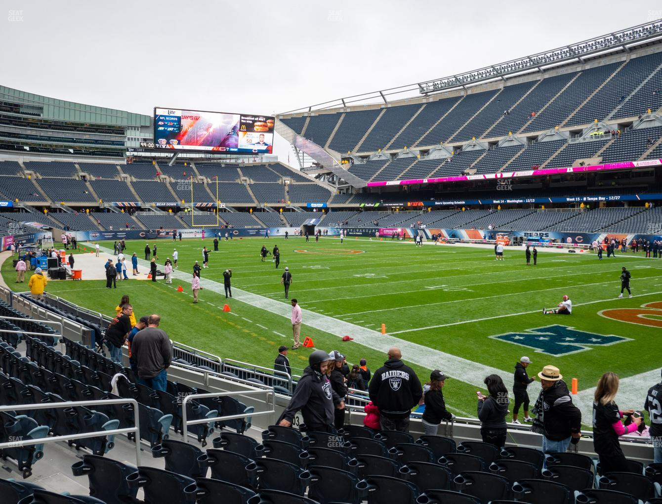 Chicago Bears at Soldier Field Section 101 View