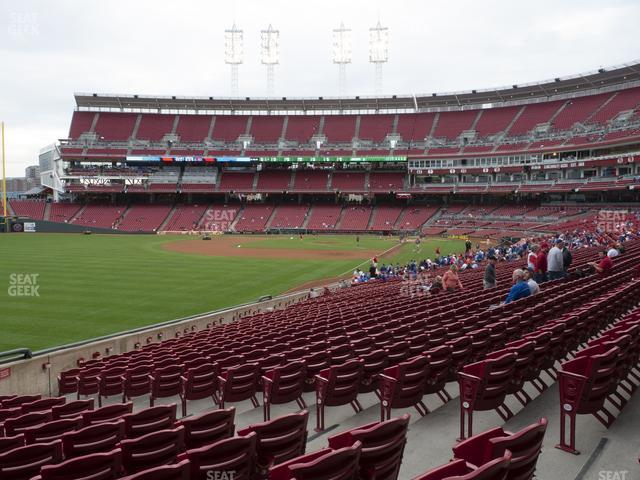 Great American Ball Park Section 109 view