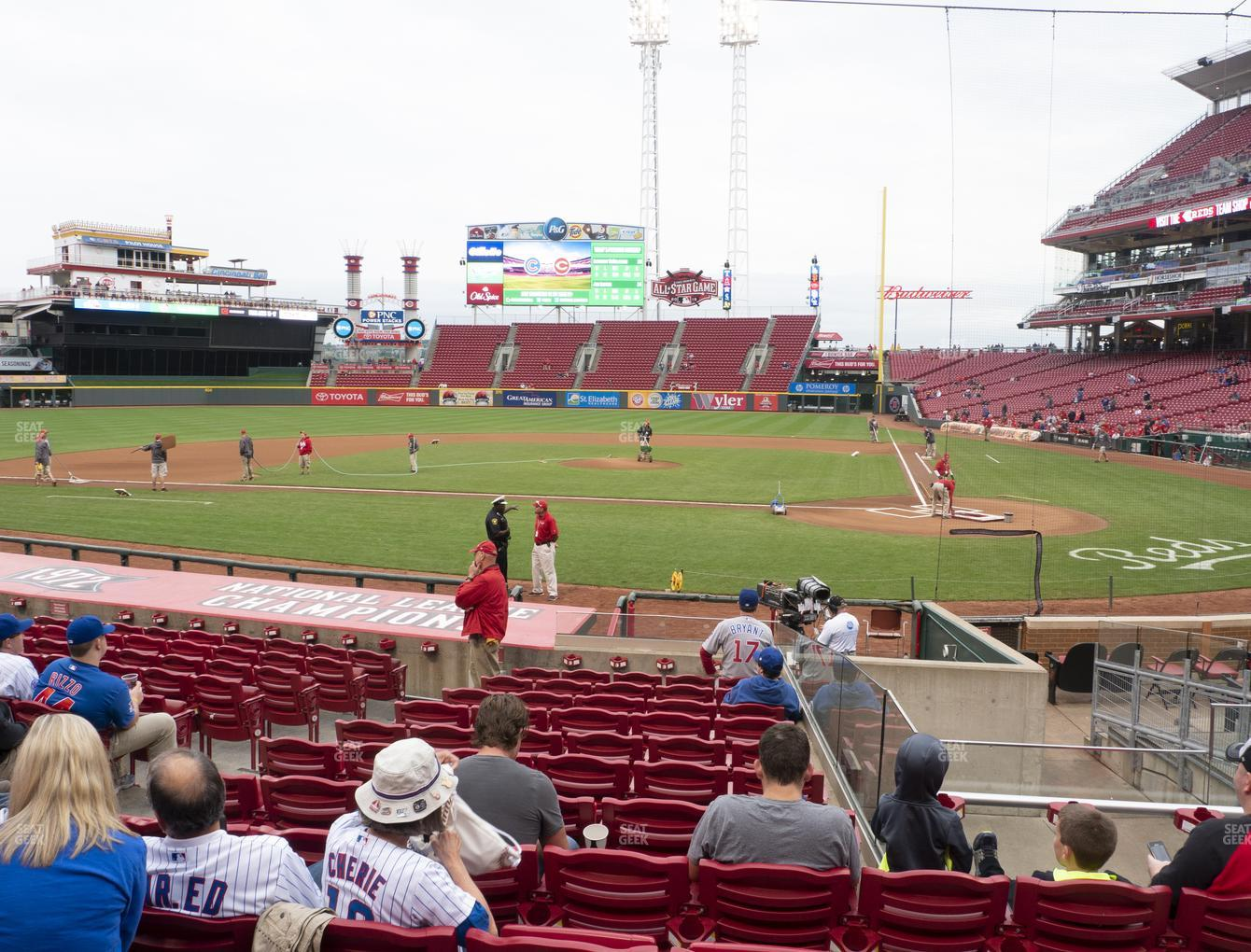 Cincinnati Reds at Great American Ball Park Section 120 View