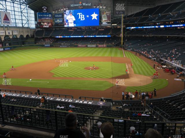 Minute Maid Park Section 215 view