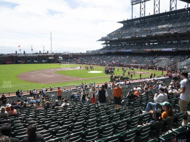 Oracle Park Section 126 view