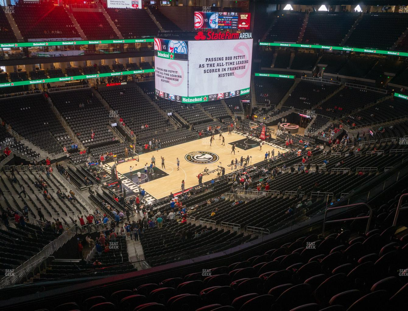Atlanta Hawks at State Farm Arena Section 226 View