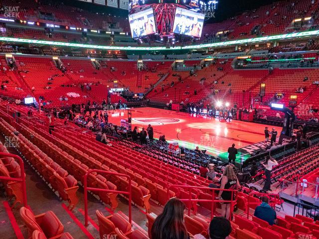 American Airlines Arena Section 104 view