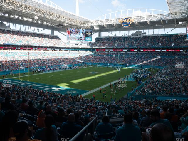 Hard Rock Stadium Section 254 view